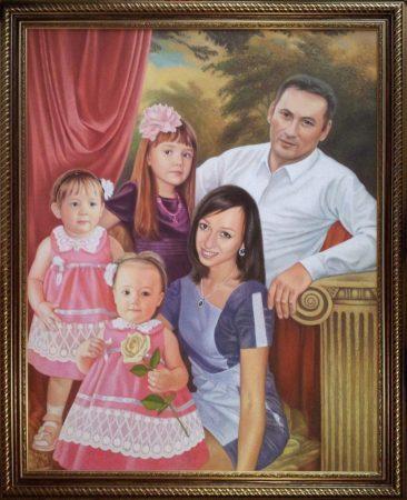 Семейный портрет маслом в Чебоксарах — правильная традиция…