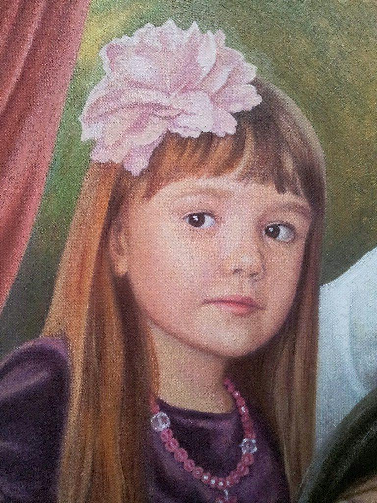 Семейный портрет на холсте Чебоксары