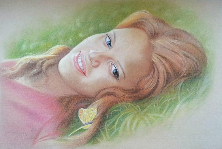 Настоящий портрет пастелью для любимой девушки в Чебоксарах, просто и со вкусом!