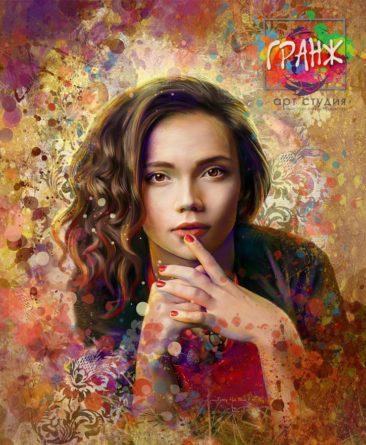 Портрет по фото, подарок на 14 февраля заказать Чебоксары