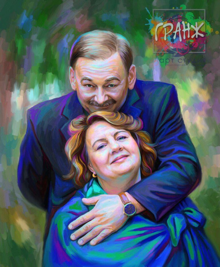 Портрет по фото на холсте — оригинальный подарок на семейный праздник Чебоксары