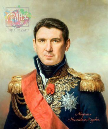 Портрет по фото на холсте в подарок мужчине на 23 февраля Чебоксары
