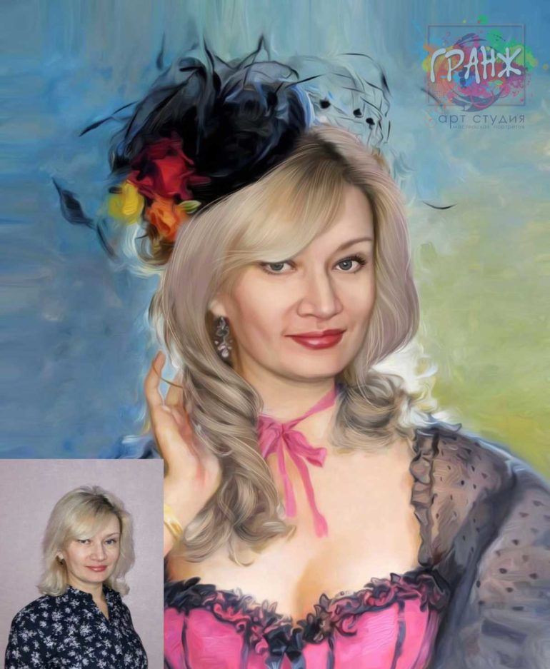 Заказать арт портрет по фото на холсте в Чебоксарах