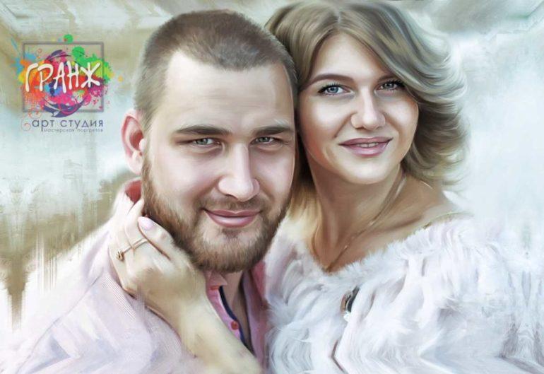 Где заказать портрет по фотографии на холсте в Чебоксарах?