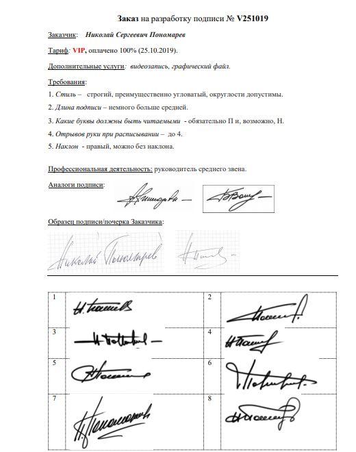 Разработка личной подписи онлайн Чебоксары