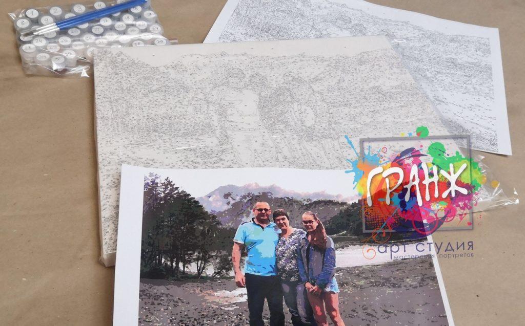 картин по номерам на холсте по фото в Чебоксарах