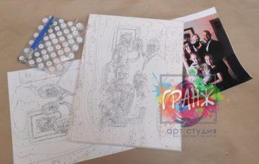 Картина по номерам по фото, портреты на холсте и дереве в Чебоксарах